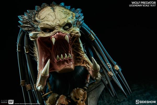 Aliens vs Predator Requiem Legendary Scale Büste 1/2 Wolf Predator Sideshow Limited International Ve