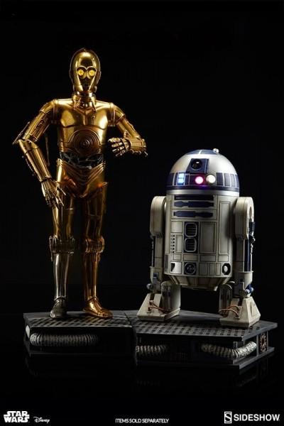 Star Wars Premium Format Figur Set R2-D2 30 cm & C-3PO 49 cm