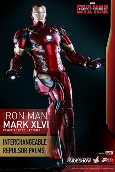 Captain America Civil War Power Pose Series Actionfigur 1/6 Iron Man Mark XLVI 31 cm