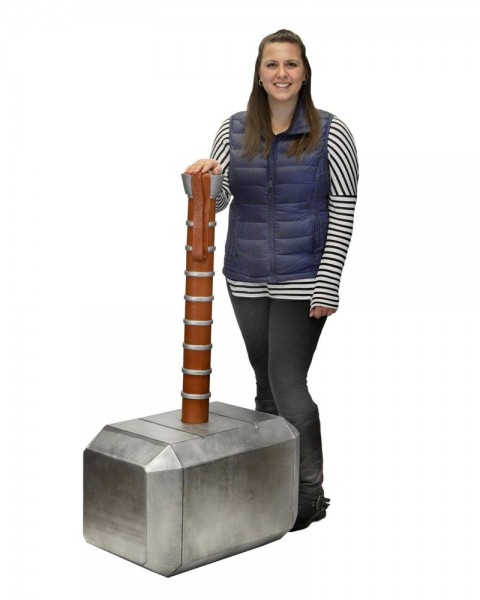 Marvel Comics Oversized Replik Mjolnir - Thor's Hammer (Schaumgummi/Latex) 122 cm