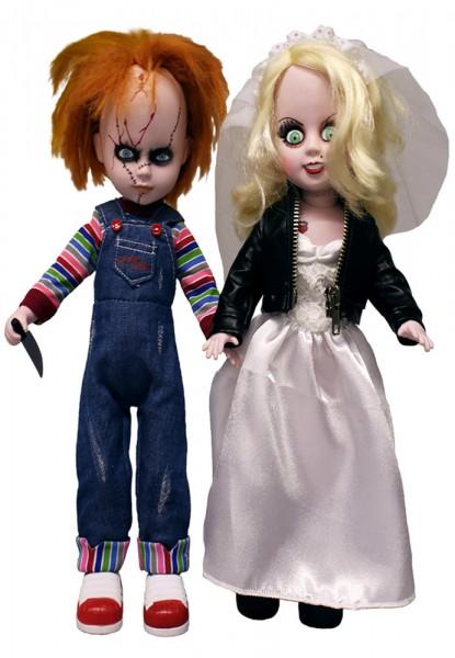 Living Dead Dolls Puppen Set Chucky & Tiffany 25 cm