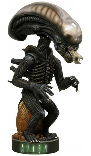 Alien Head Knocker Wackelkopf-Figur Alien Warrior 18 cm