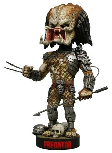 Predator Head Knocker Wackelkopf-Figur Predator with Spear 23 cm