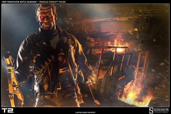 Terminator 2 Premium Format Figur 1/4 T-800 Battle Damaged 53 cm