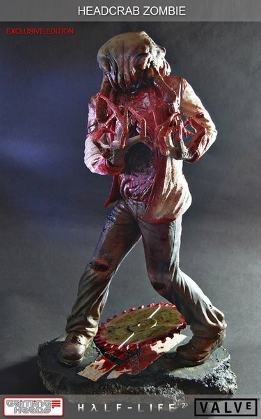 Half Life 2 Headcrab Zombie Resin Statue Exclusive