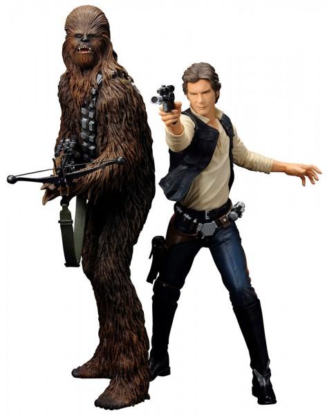 Star Wars ARTFX+ Statuen Doppelpack Han Solo & Chewbacca 18 cm
