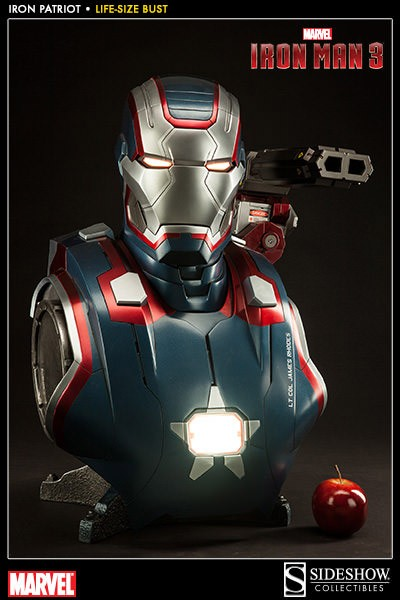 Iron Man 3 Büste 1/1 Iron Patriot 66 cm