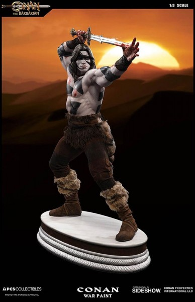 Conan der Barbar Mixed Media Statue Exclusive 1/3 Conan War Paint Ver. (Arnold Schwarzenegger) 74 cm