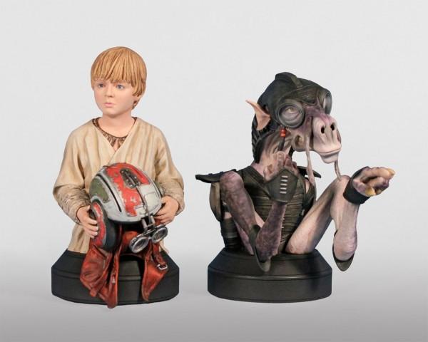 Star Wars Büsten Doppelpack 1/6 Sebulba & Anakin 14 cm