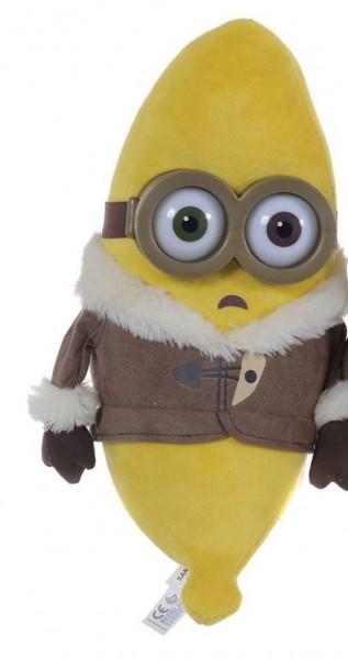 Minions Plüschfiguren Bananas mit 3 D Augen Stuart 30 cm