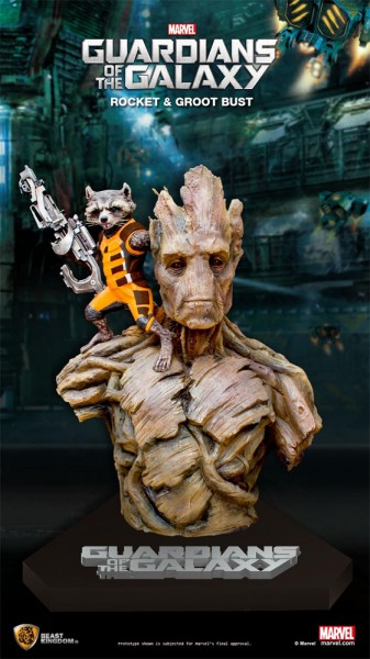 Marvel Guardians of the Galaxy Büste 1/1 Rocket & Groot 201 cm