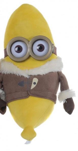 Minions Plüschfiguren Bananas mit 3 D Augen Kevin 30 cm