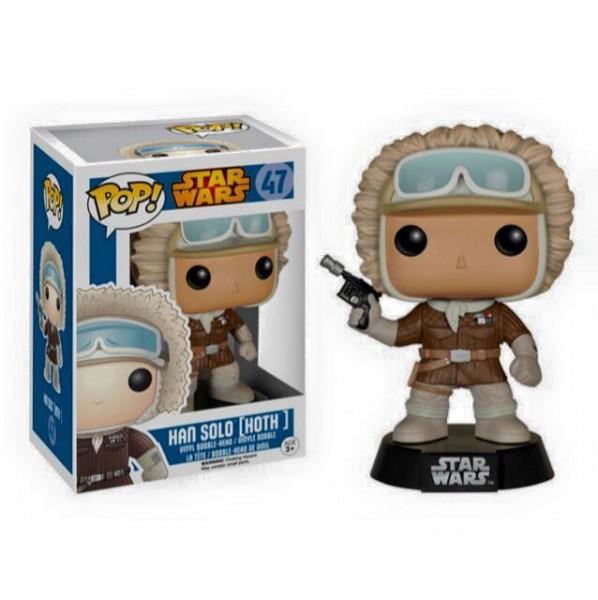 Funko Star Wars POP! Vinyl Wackelkopf-Figur Han Solo Hoth Outfit Exclusive 9 cm