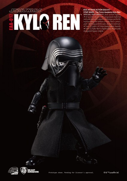 Star Wars Episode VII Egg Attack Actionfigur Kylo Ren 15 cm