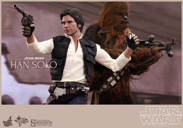 Set Star Wars Movie Masterpiece Actionfigur 1/6 Han Solo 30 cm und 1/6 Chewbacca 36 cm