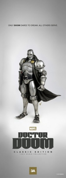 Marvel Actionfigur 1/6 Doctor Doom Classic 34 cm
