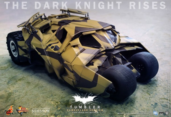 Batman The Dark Knight Rises Movie Masterpiece Fahrzeug 1/6 Batmobile Tumbler Camouflage 74 cm