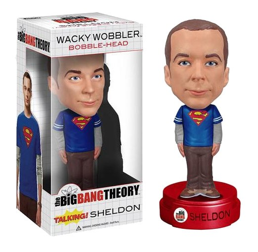 The Big Bang Theory Wacky Wobbler Wackelkopf-Figur mit Sound Talking Sheldon 15 cm