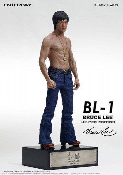 Bruce Lee Black Label Statue 1/6 35 cm