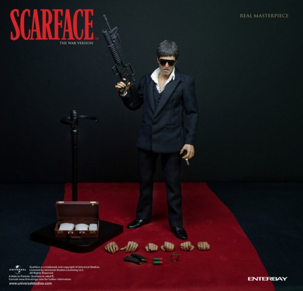 Scarface Real Masterpiece Actionfigur 1/6 The War Version 30 cm