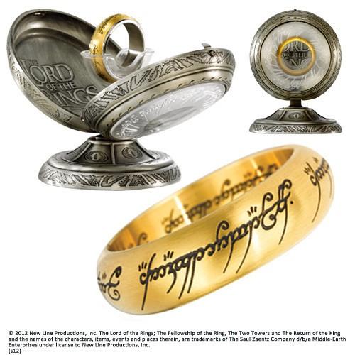 Herr der Ringe Edelstahl-Ring Der Eine Ring (vergoldet)