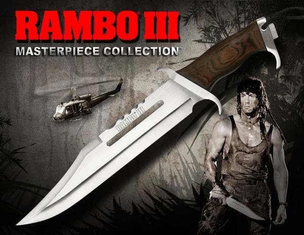 Rambo III Replik 1/1 Messer Sylvester Stallone Standard Edition 46 cm