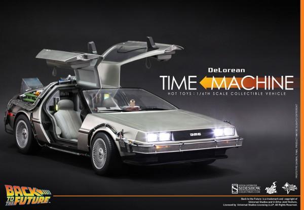 Zurück in die Zukunft Movie Masterpiece Fahrzeug 1/6 DeLorean Time Machine 72 cm