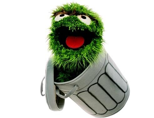 Oskar in der Tonne Sesamstrasse Handspielpuppe