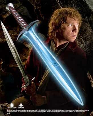 Der Hobbit: Eine unerwartete Reise Replik 1/1 Bilbo Beutlins Stich Schwert mit Leuchtfunktion 69 cm