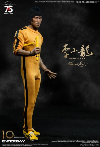 Bruce Lee Real Masterpiece Actionfigur 1/6 Bruce Lee 75th Anniversary 30 cm