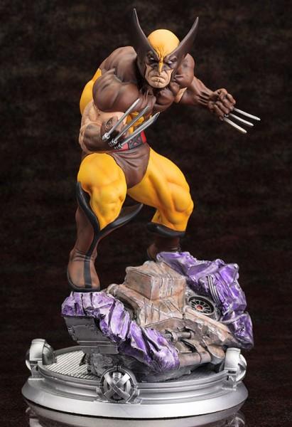 Marvel Comics Fine Art Statue 1/6 Wolverine Brown Costume Danger Room Sessions 20 cm